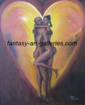 The Embrace - Human figure art