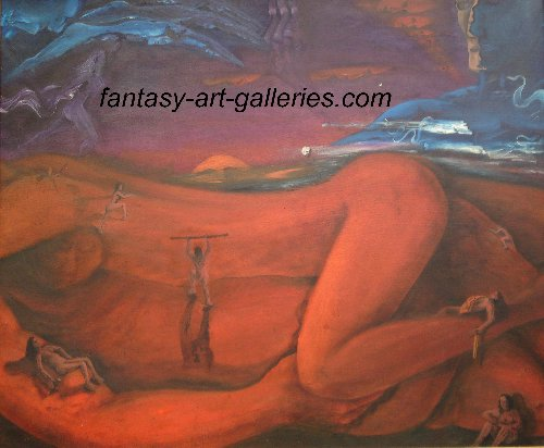 ETERNAL by JAG: A scene within a scene... a painting with many dimensions and points of view...
