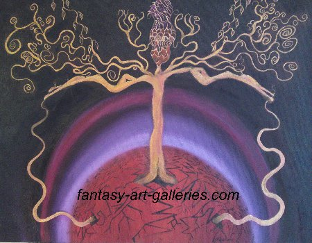 The tree of dreams - fantasy landscapes, original fantasy art, JAG